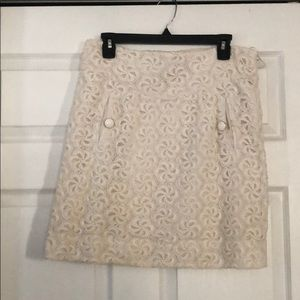 Anthropologie leifdottir lace pencil skirt